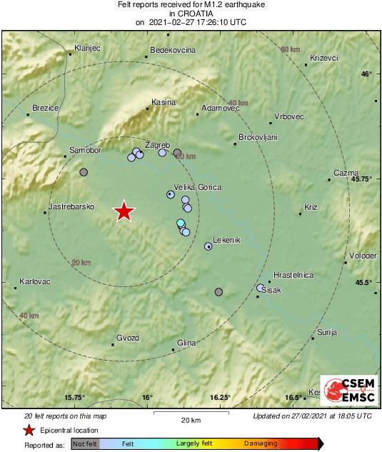 dva potresa