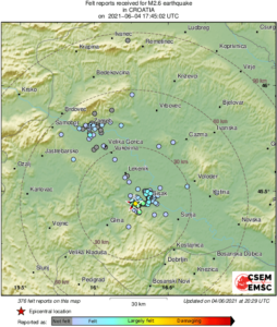 potres kod petrinje