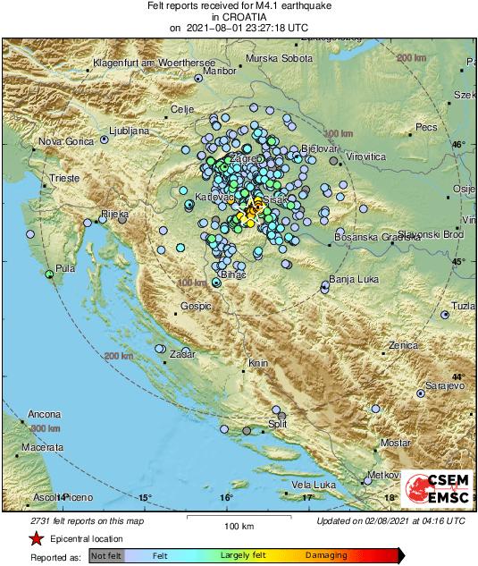 potres noćas